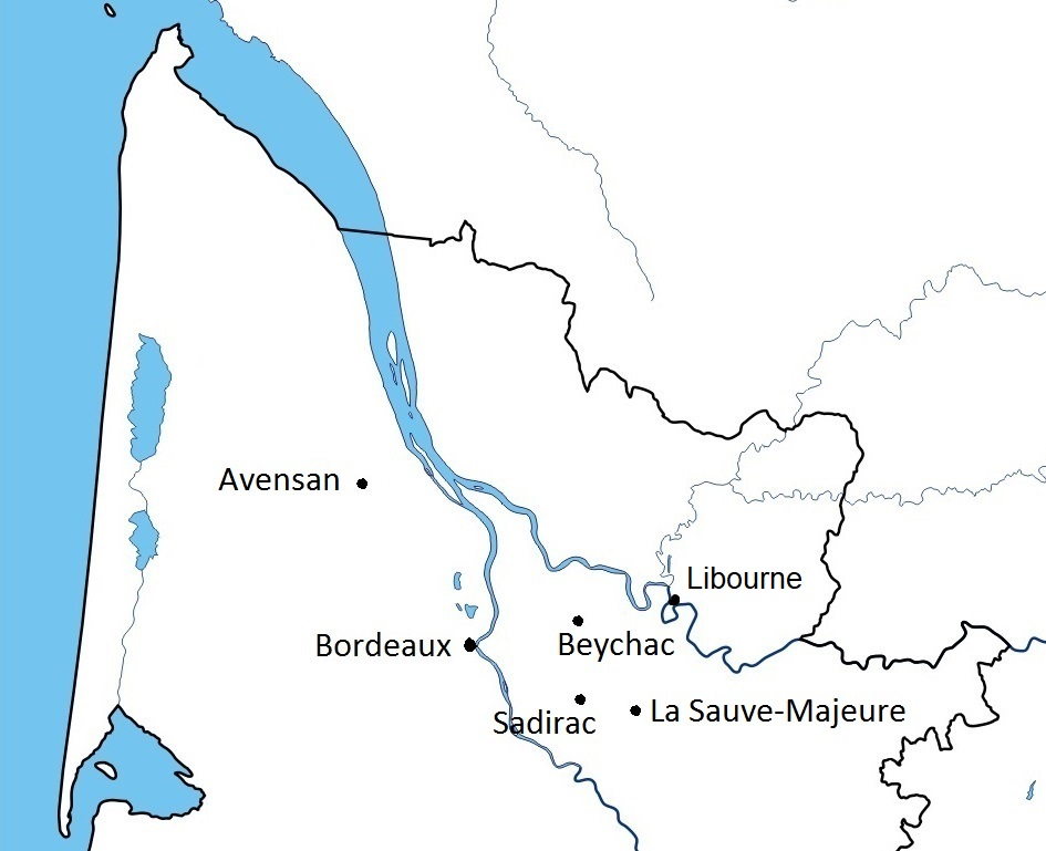 Carte Bordeaux-LaSauve